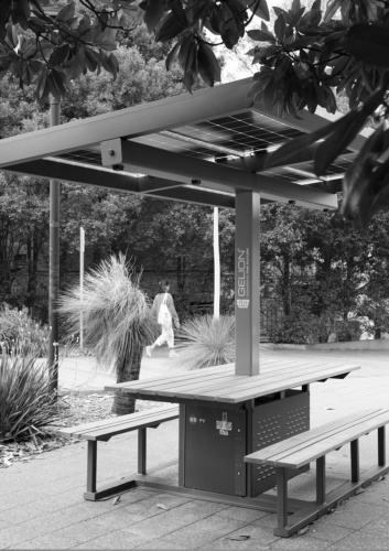 Gelion: Makers of the University of Sydney solar powered benches